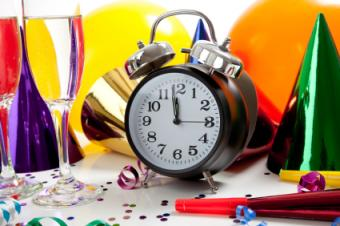 clock and balloons
