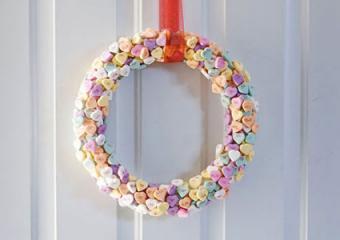 Conversation Heart Wreath by Mandi Tremaynes