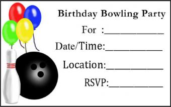 Balloons and Bowling Invite