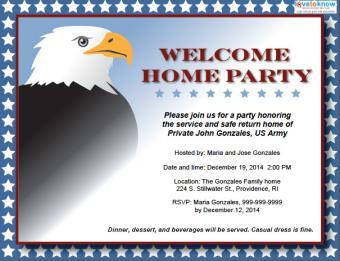 Eagle patriotic party invitation