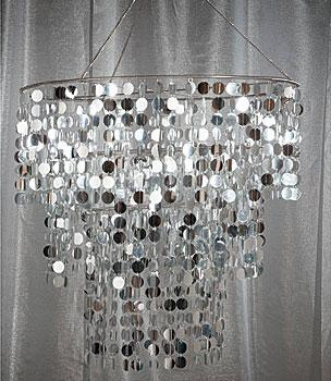 Silver Disc Chandelier at shindigz.com