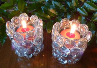 Blinged candlestick holders craft project