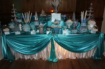 Winter Wonderland candy buffet decorations