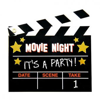 Large Clapboard Invitation from Party City