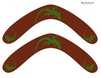 Click to download and print the boomerangs.