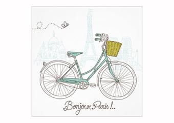 Bicycle in Paris Invitations