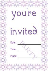 Purple Border Invite