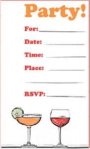 Party Drinks Invite