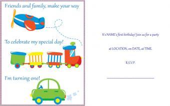 Baby 1st birthday party invitation