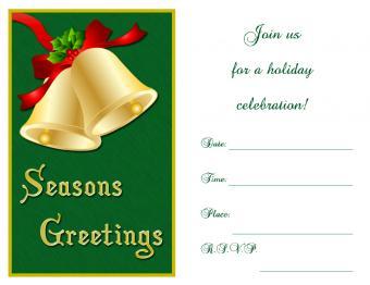 Christmas bells invitation