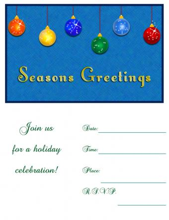 Christmas ornament invitation