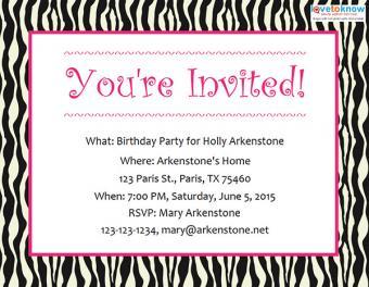 Teen party invitation