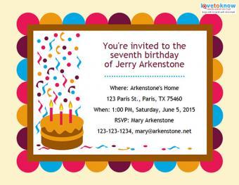 Invitation for boy or girl