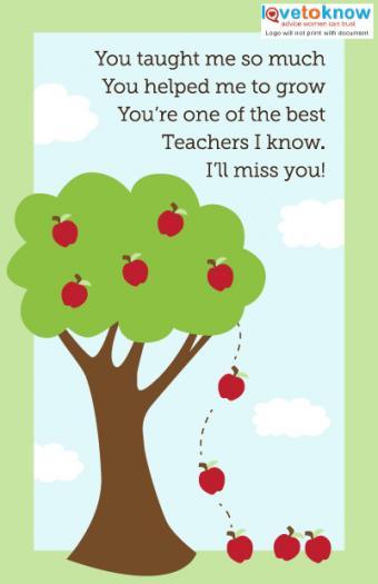 Click to print the teacher card.