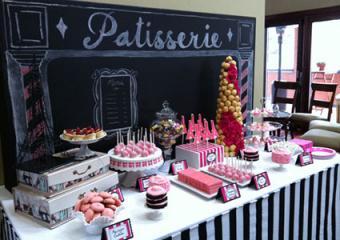 Paris theme dessert table by LOVEinc. Dessert Styling