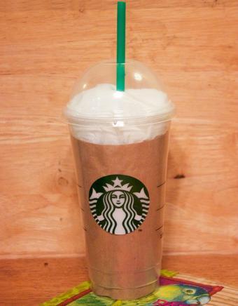 disposable coffee mug gift wrap