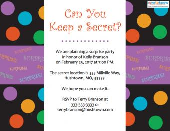general surprise party invitation