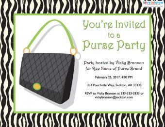 purse party sales invitation
