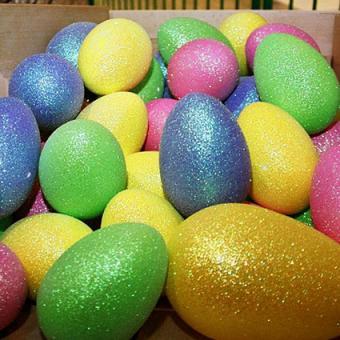 14'' glitter Easter eggs