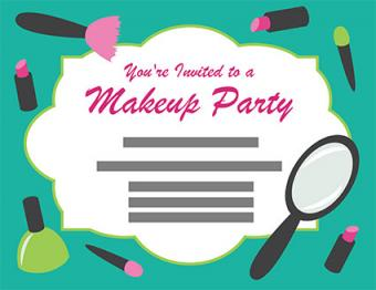 Makeup Party Invitations