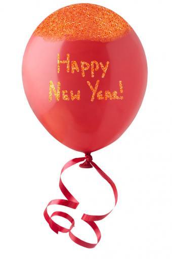 Happy New Year glitter balloon