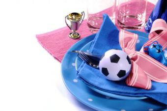Soccer party table setting