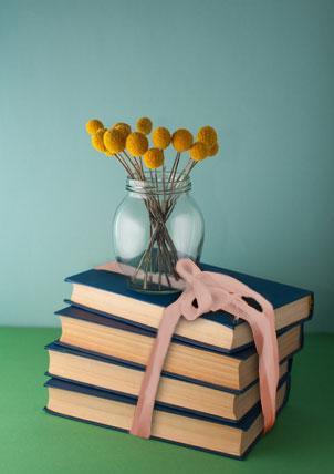 books centerpiece
