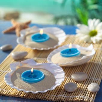 seashell candle centerpiece