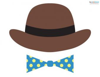 hat and bow tie props
