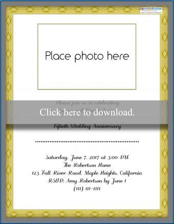Printable 50th Anniversary Invitation