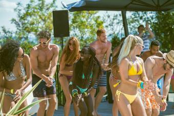 Dancing At Pool Party
