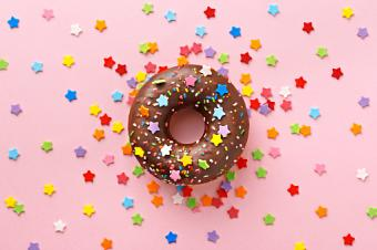 Donut Decorated With Stars