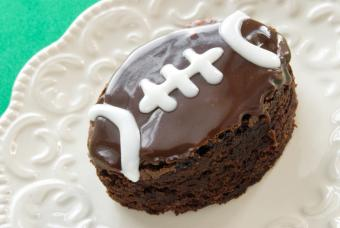 Football Shaped Chocolate Fudge Brownie