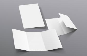 Realistic Tri-Fold A5