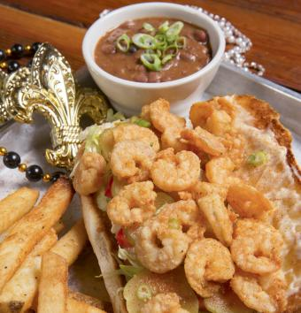 Shrimp PoBoy on Fat Tuesday