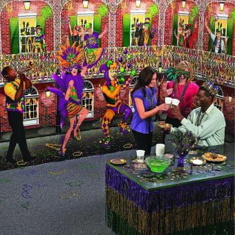Mardi Gras Design A Room Musician Set