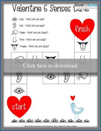 Valentine's Senses Board Game