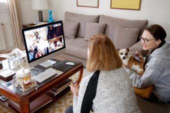 Video call with family