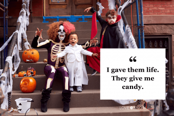 Cute Halloween Caption for Families and Kids