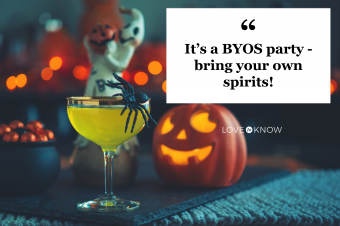 Halloween drinks at a party
