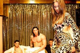 Sexy dancer at a club