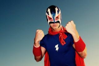 Pro wrestler in costume