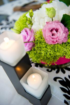 Candles and flowers are traditional.