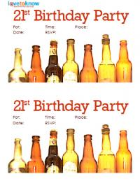 21st Beer Bottle Invite