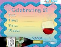 21st Wine Bottle Invite