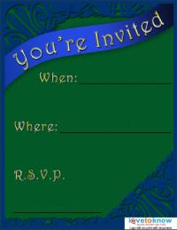 Green and Blue Invite