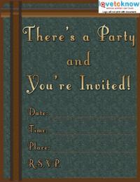 Masculine Invite