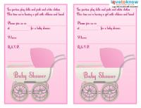 Girl Carriage Invite