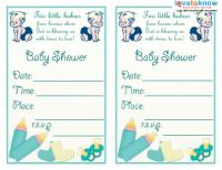 Twins Shower Invite