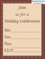 Holiday Celebration Invite